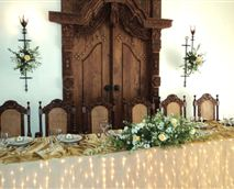 Bridal Table Upstairs venue seating 60 guests