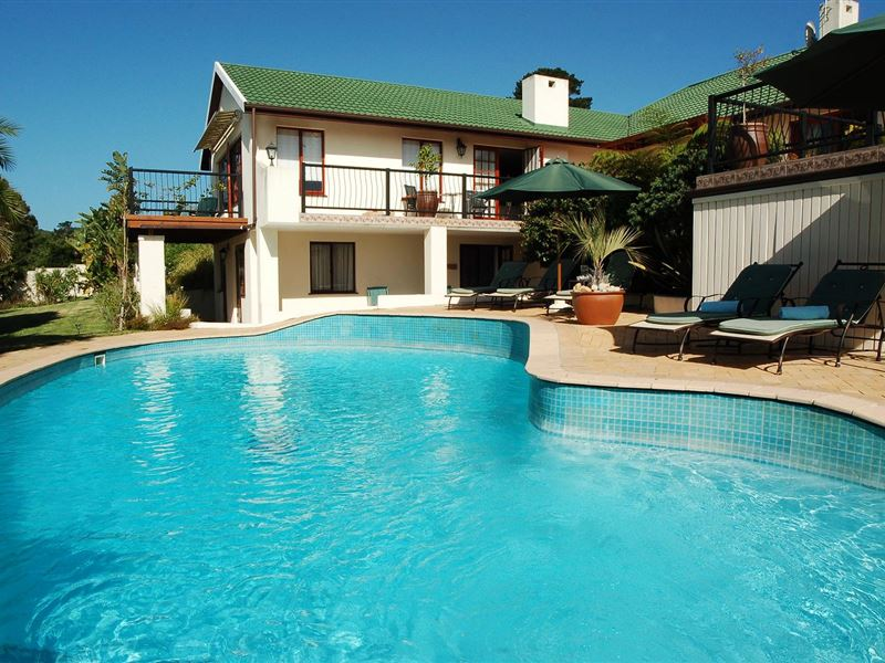 Knysna country house for Salt water swimming pool