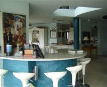 Open-plan pub, living and dining area