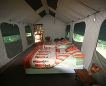 Interior of a tent