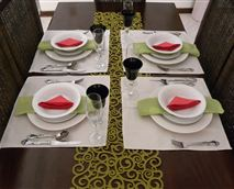 Eat breakfast in family table setting. Elegant and neatly laid table will appetise you. Enjoy healthy meals with Lelo's touch of brilliance and creativity. Sample our Traditional meals if you are lucky.
