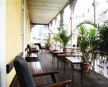 Verandah facing Long Street. Perfect for relaxing and meeting fellow travellers.