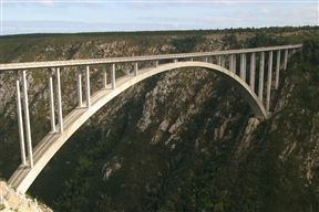 The world's highest commercial bungy bridge - 216 meters.