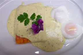 Haddock Mornay & Poached Eggs