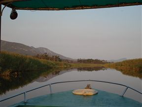 Cruise downriver on the comfortable Platanna.