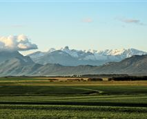 View of the Elandskloof mountain range from the bedroom balconies.