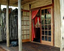 Serval hut deck area