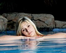 Relax in our sparkling rock pool!