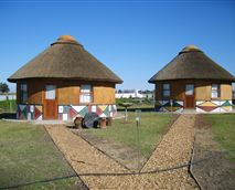2 of the 4 Rondavels stand alone and fully self catering with braai facilities
