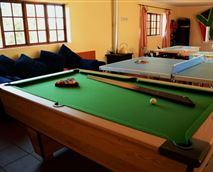 Games room with Table Tennis, Pool Table, Board Games, Books, Magazines, Dover Stove & Sun Deck. © Finh Of The Lens