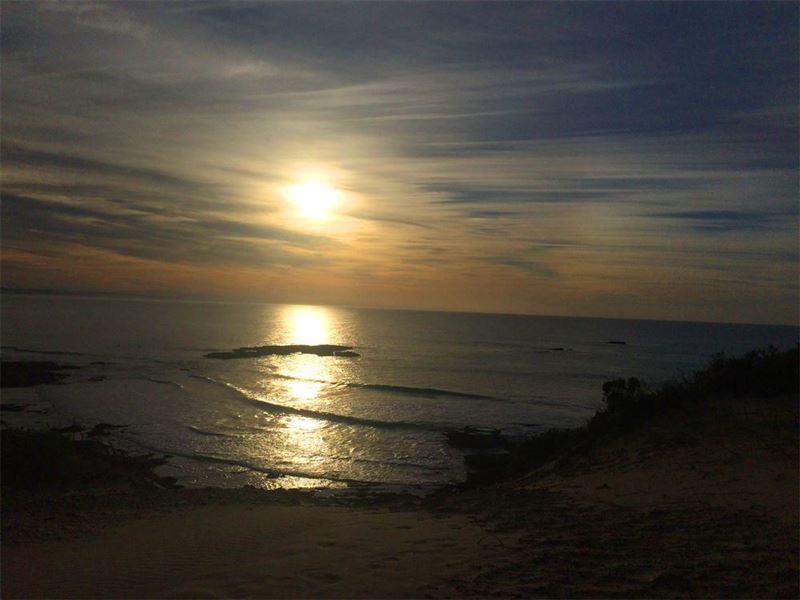 Sunset on Arniston beach
