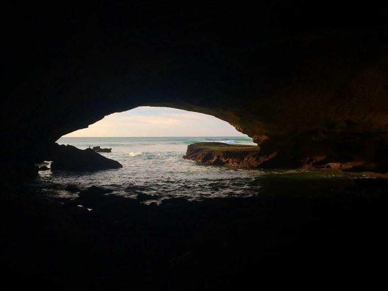 Sea cave at Arniston
