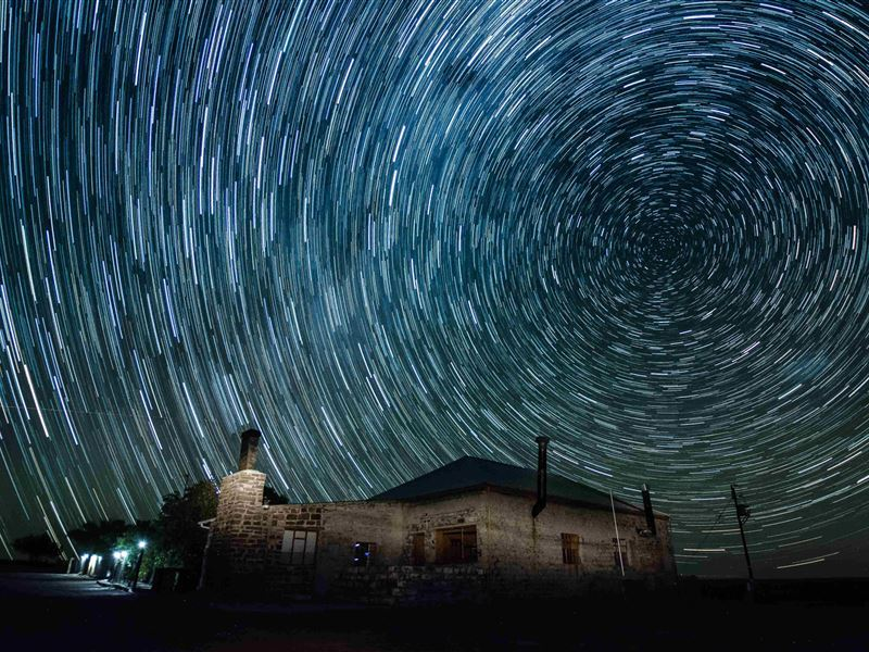 Night sky above Blesfontein Guest Farm, Sutherland