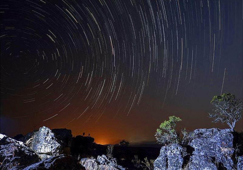 Star trail near God's Window