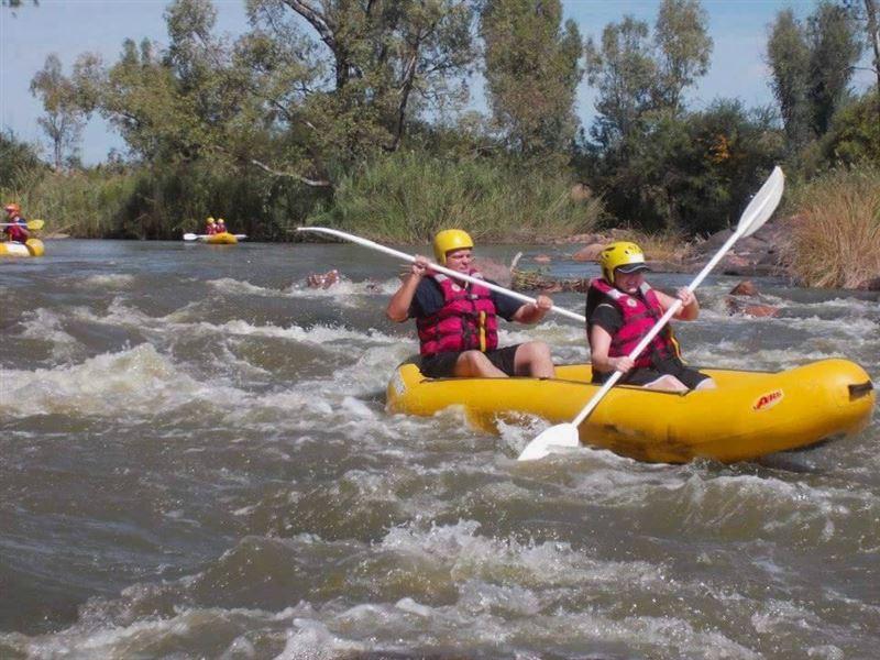 River rafting near Parys