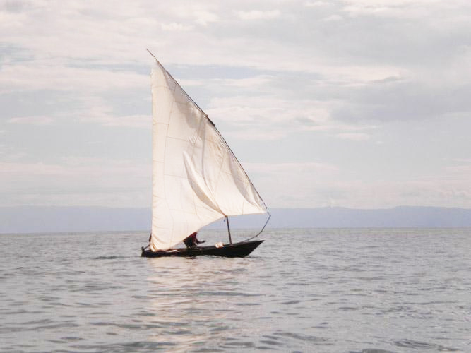 Dhow sailing on Lake Tanganyika