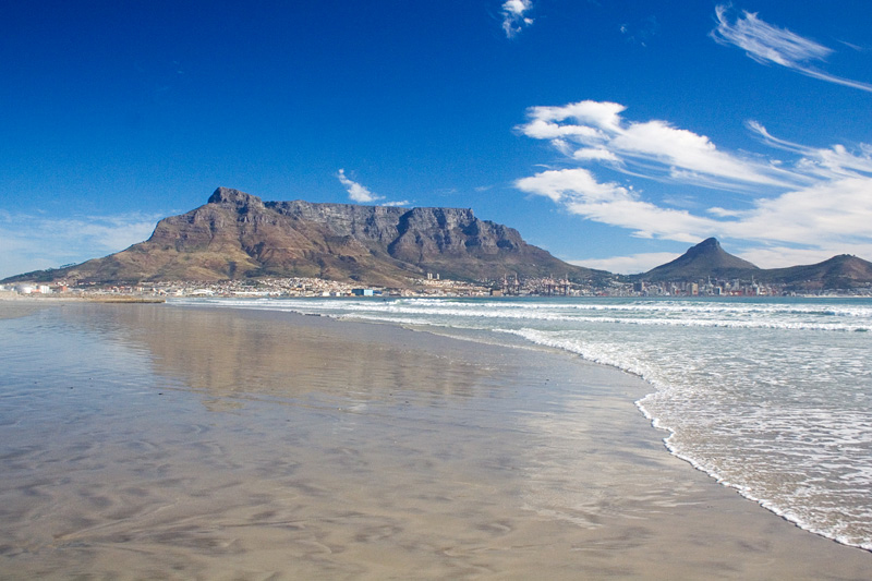 Table Mountain seen from Milnerton Beach