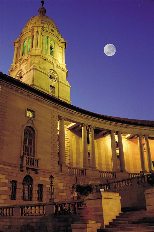Full moon above Union Buildings, Pretoria