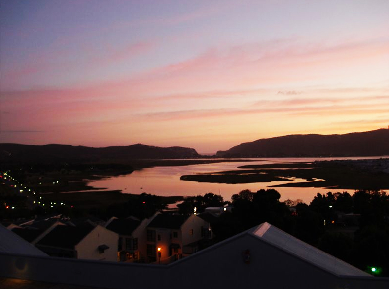 Knysna sunset from Old Place