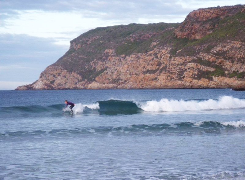 Surfing at Robberg Beach