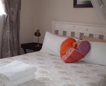 Sea Cottage main bedroom with double bed