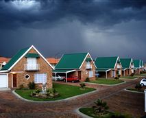 Thunder clouds gathering over the tranquility of the guest house.