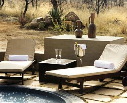 Heated and private splash pool