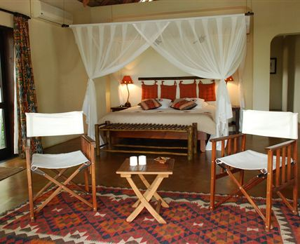 This room faces the dam, pool and the Kruger National Park. © Bush Haven Lodge