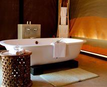Free standing bath © Tuli Safari Lodge