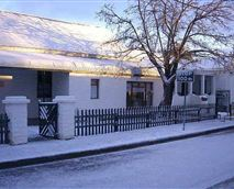 Guest house during winter