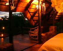 open Honeymoon Suite with private plunge pool. Probably the most romantic room in Africa!