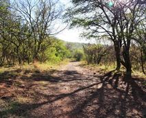 The road to the hiking trail at Thwane.