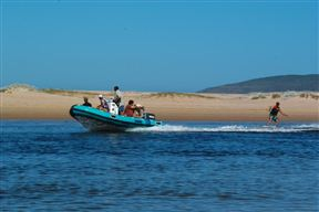 Watersports in the lagoon of Plettenberg Bay