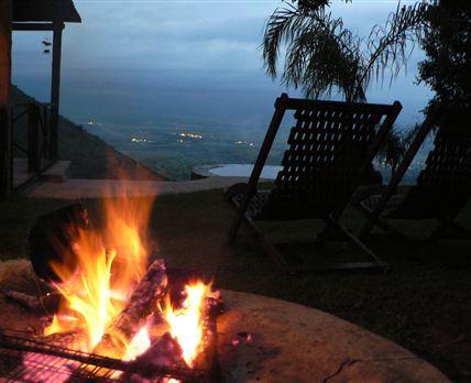 Fireplace and braai area