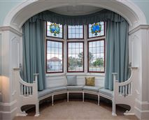 Beautiful stained glass bay window