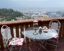 You can relax on terrace with a cup of tea and homemade cookies.