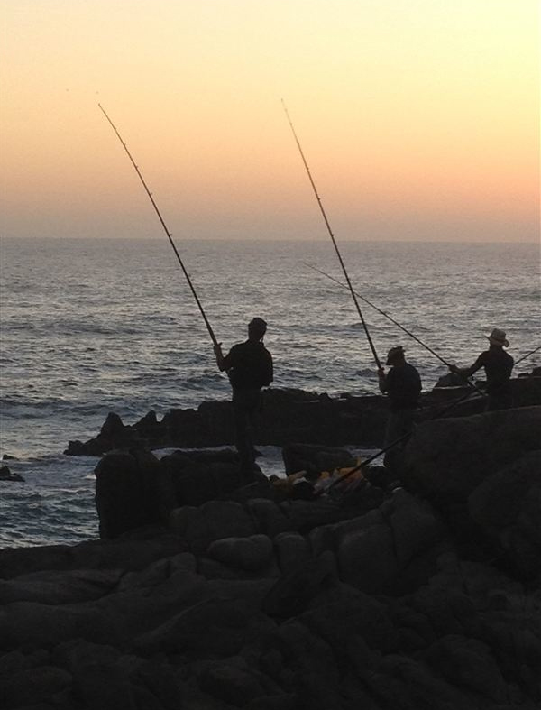 Fishing at Eersterivierstrand