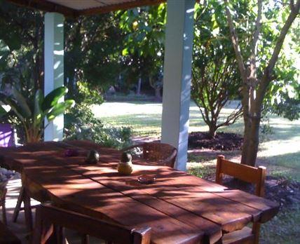 Garden flat veranda