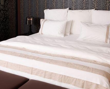 Fine cotton linen for a good night's rest.