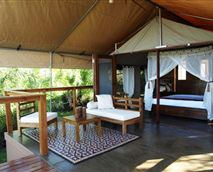 View of the tent and veranda