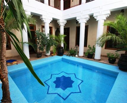 Riad Africa has one of the largest plunge pools in the Medina. © Riad Africa