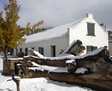 View of the Farmhouse in winter