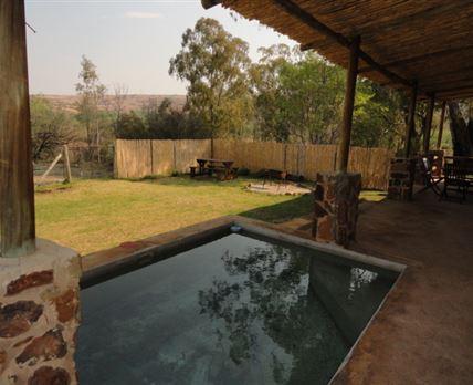 Puschka house's pool area