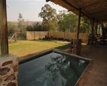 Puschka house's pool area