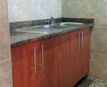 Double sink as well as a double washing trough