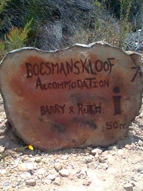 Boesmanskloof Accommodation on the McGregor side