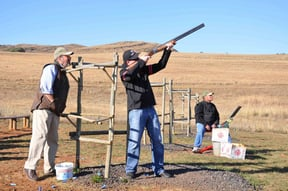 Field and Stream clay pigeon shooting