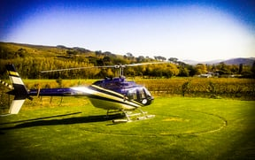 Helicopter in the Winelands