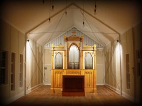 The inside of the Chapel and the Historical Lauterbach Organ