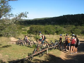 Cyclists on Sebumo Tude Mountain Bike Trail